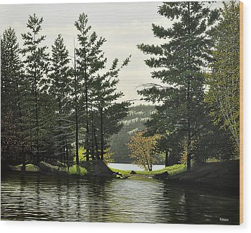 Wood Print featuring the painting Killarney by Kenneth M  Kirsch