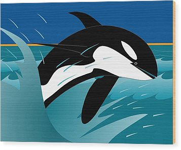 Killer Whale Wood Print
