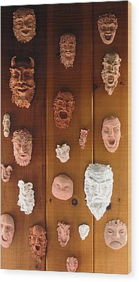 Kiln Gods Wood Print by Deborah Dendler