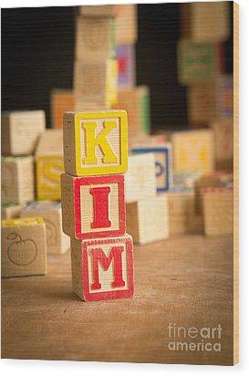 Kim - Alphabet Blocks Wood Print by Edward Fielding