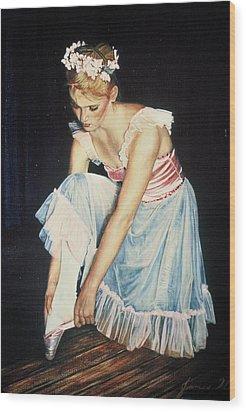 Kim At Her Dress Rehersal Wood Print
