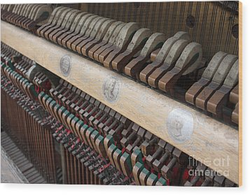Kimball Piano-3471 Wood Print by Gary Gingrich Galleries