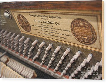 Kimball Piano-3476 Wood Print by Gary Gingrich Galleries