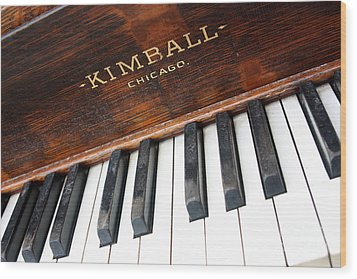 Kimball Piano-3479 Wood Print by Gary Gingrich Galleries