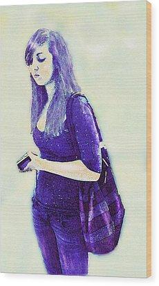 Kind Of Blue Wood Print by Jane Schnetlage