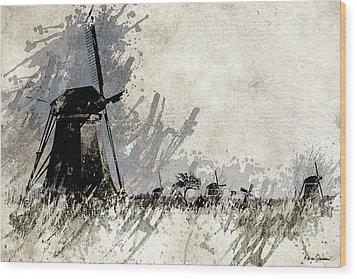 Kinderdijk 3 Wood Print