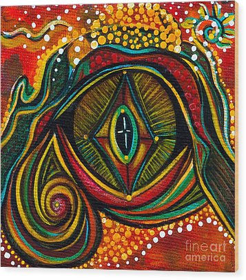 Kindness Spirit Eye Wood Print