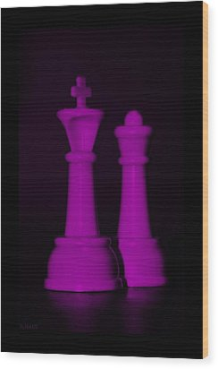King And Queen In Pink Wood Print by Rob Hans