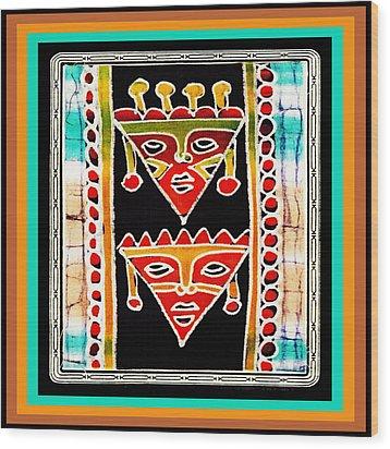 Wood Print featuring the digital art King And Queen by Vagabond Folk Art - Virginia Vivier