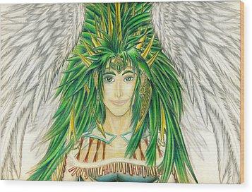 King Crai'riain Portrait Wood Print