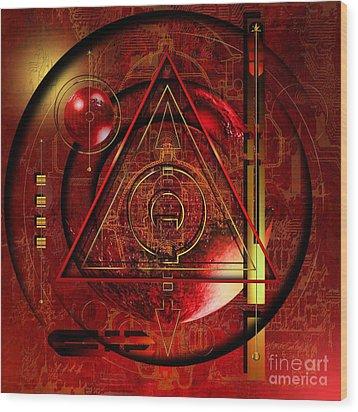 King Crimson Wood Print by Franziskus Pfleghart