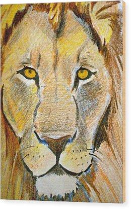 King Wood Print by Debi Starr