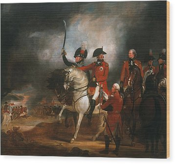 King George IIi And The Prince Of Wales Wood Print by Sir William Beechey