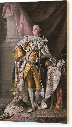 King George IIi In Coronation Robes Wood Print