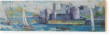 King Johns Castle Limerick Ireland Wood Print by Paul Weerasekera