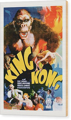 King Kong 1933 Movie Art Wood Print by Presented By American Classic Art