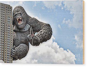 King Kong Wood Print