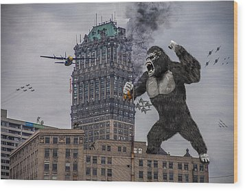 Wood Print featuring the photograph King Kong In Detroit At Wurlitzer by Nicholas  Grunas