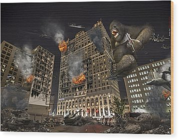 Wood Print featuring the photograph King Kong In Detroit Westin Hotel by Nicholas  Grunas
