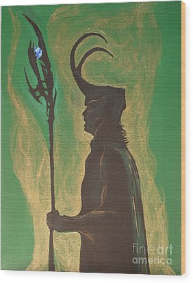 King Loki Wood Print