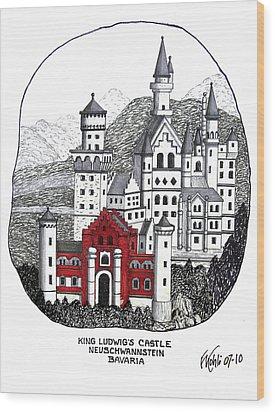 King Ludwigs Castle  Wood Print by Frederic Kohli