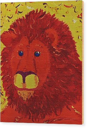 King Of Beasts Wood Print by Yshua The Painter