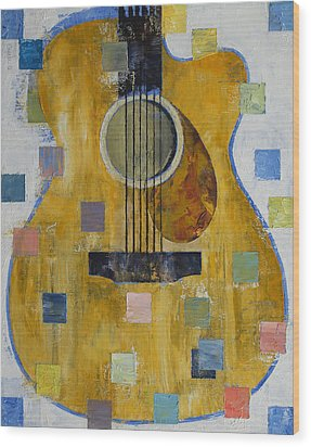King Of Guitars Wood Print by Michael Creese