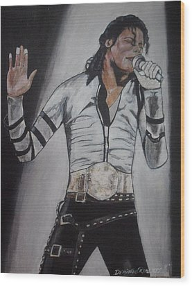 King Of Pop Wood Print by Demitrius Roberts