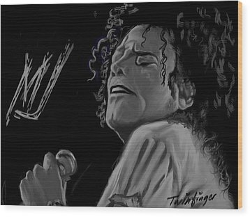 King Of Pop Wood Print by Twinfinger
