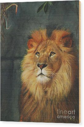 King Of Taronga - Watercolor Wood Print by GD Rankin