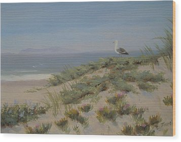 King Of The Beach Wood Print by Tina Obrien