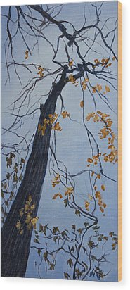 King Of The Forest Wood Print by Janet Felts