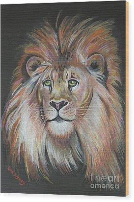 King Of The Jungle Wood Print by Lora Duguay
