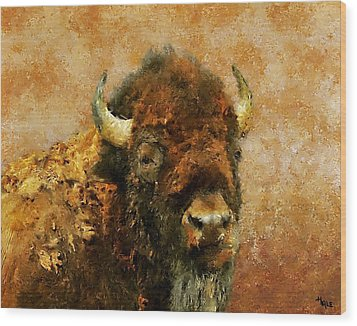 King Of The Plains Wood Print by Roger D Hale
