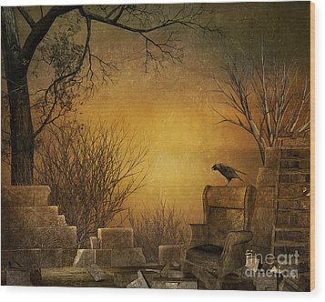 King Of The Ruins Wood Print by Bedros Awak