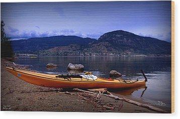 Wood Print featuring the photograph Kings Beach - Okanagan Lake - Kayaking by Guy Hoffman