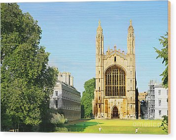 Wood Print featuring the photograph King's College Chapel by Eden Baed