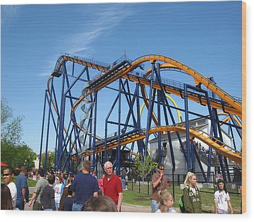 Kings Dominion - Dominator - 01131 Wood Print by DC Photographer