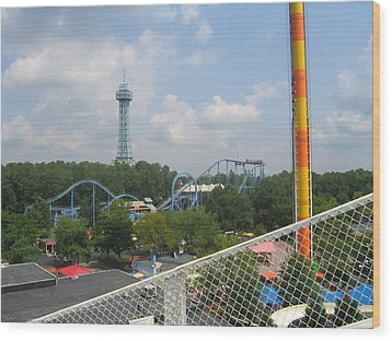 Kings Dominion - Shockwave - 01132 Wood Print by DC Photographer