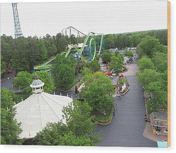 Kings Dominion - Shockwave - 01133 Wood Print by DC Photographer