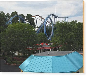 Kings Dominion - Shockwave - 12121 Wood Print by DC Photographer
