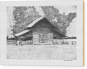 King's Mountain Barn Wood Print by Paul Shafranski