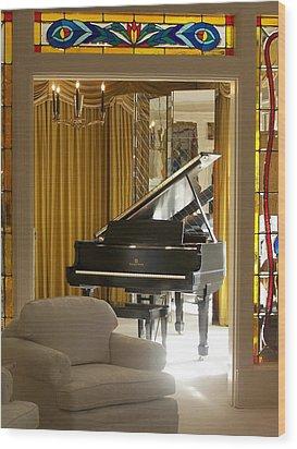 Kings Piano Wood Print by Jewels Blake Hamrick