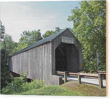 Kingsley Bridge Wood Print