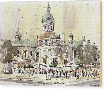 Kingston Market Square Wood Print