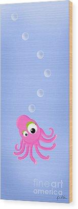 Kiniart Octopus Wood Print by Kim Niles