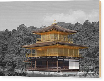 Wood Print featuring the photograph Kinkaku-ji by Cassandra Buckley