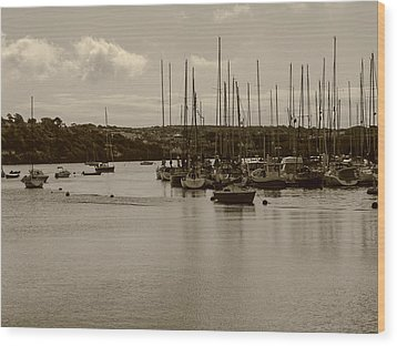 Wood Print featuring the photograph Kinsale Harbor At Dusk by Winifred Butler