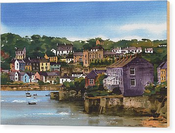 Kinsale Harbour West Cork Wood Print