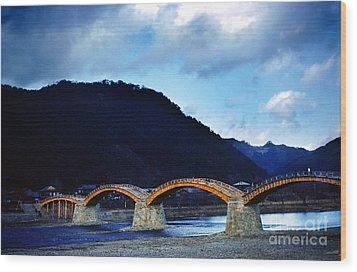 Kintai Bridge Japan Wood Print by Wernher Krutein